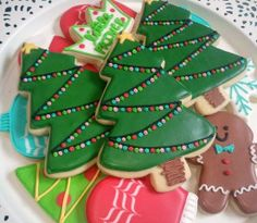 Christmas Tree cookies from Little Prince Cookies