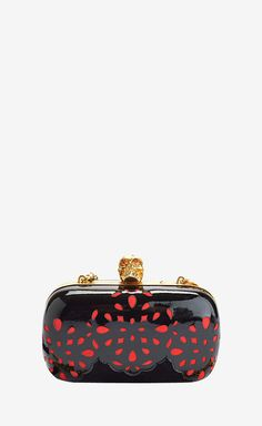 Alexander McQueen Black And Red Shoulder Bag