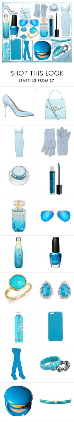 """""""baby blue"""" by elsiehbae on Polyvore featuring Semilla, Portolano, rms beauty, Ray-Ban, S'well, OPI, Marco Bicego, Amanda Rose Collection, COOLA Suncare and Chaos"""