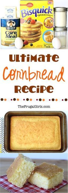Ultimate Cornbread Recipe From This Corn Bread Recipe Is So Easy And Delicious, And Over-The-Top When Topped With Cinnamon Honey Butter Kouign Amann, Easy Cornbread Recipe, Cornbread Cake, Moist Cornbread, Sweet Cornbread, Cornbread Muffins, Corn Muffins, Cinnamon Honey Butter, Bisquick Recipes