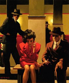 Jack Vettriano Sometimes It's A Man's World oil painting for sale
