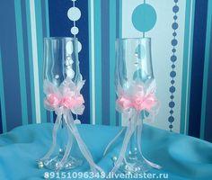 Купить Свадебные бокалы - свадьба, свадебные аксессуары, подарок на свадьбу, свадебные бокалы, Бокалы