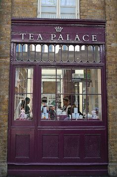 Tea Palace Covent Garden, London Love the color! ♥ - Double click on the photo to Design & Sell a #travel guide to #London www.guidora.com