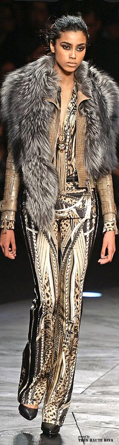 Milan Fashion Week Roberto Cavalli Fall/Winter 2014 | The House of Beccaria~