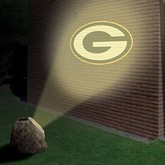 Green Bay Packers Solar-Powered Projection Rock