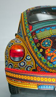 VW Beetle decorated by Native Americans using more than 2 million beads---National Museum of the American Indian