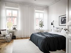 I love seeing different processes of making a house into a home and next we're creating a tranquil bedroom. Scandi Bedroom, Home Bedroom, Bedroom Decor, Bedroom Ideas, Minimalist Bedroom, Minimalist Home, Tranquil Bedroom, Scandinavian Home, Home And Deco