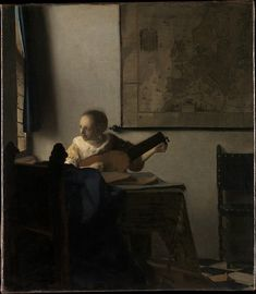 Woman with a Lute   Artist: Johannes Vermeer (Dutch, Delft 1632–1675 Delft)   Date: ca. 1662–63 Gallery 632