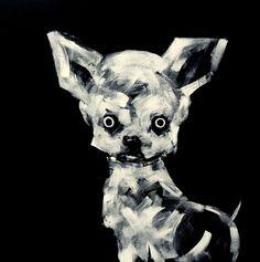 "Saatchi Art Artist Oscar Sancho Nin; Painting, ""m-61 (chihuahua)"" #art"