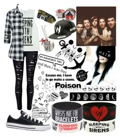 """""""Sleeping With Sirens #3 //Day With Family//"""" by alice-killjoy01 ❤ liked on Polyvore featuring WithChic and Converse"""