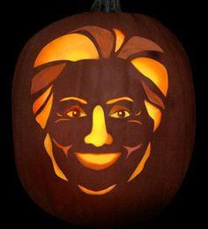 Hillary Clinton Jack-O-Lantern #halloween #democrat #politics