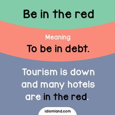 Are you in the red now? #idioms #english #learnenglish #englishidioms