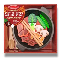 We're all crazy for stir fry and the Melissa and Doug Stir Fry Slicing Playset allows your little ones to make their own. This set features meat,. Play Kitchen Accessories, Baby Doll Accessories, Barbie Doll Set, Barbie Toys, Baby Girl Toys, Toys For Girls, Toddler Toys, Kids Toys