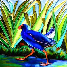 birds of new zealand painted images New Zealand Art, Nz Art, Maori Art, Kiwiana, Tile Art, Clay Art, Surface Design, Ceramic Art, Framed Art