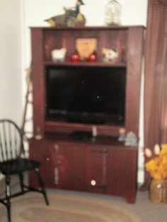 custom made flat screen tv cabinet to fit just right in this customers home.