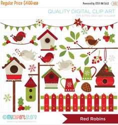 Hey, I found this really awesome Etsy listing at https://www.etsy.com/uk/listing/112220940/on-sale-clipart-red-robin-cardinal