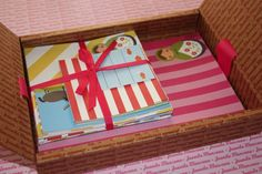 Cute stationery set. Cards, envelopes and postcards.