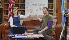 Amy and Sheldon host a new episode of Fun With Flags.