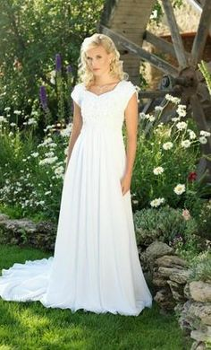 Sample Other Wedding Dress Beautifully Modest 3936M, Size 4