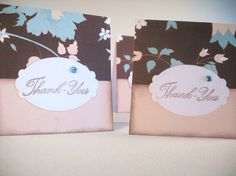 Set of 4 Charming Thank You Notes by nyra on Etsy,