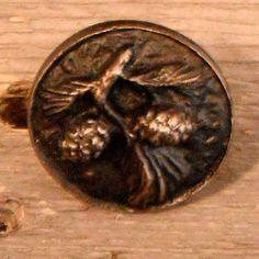 Rustic lodge PINECONE cabinet knob Hand by BigRockMetalWorks