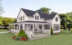 New England Hus, New England Style Homes, House Deck, House With Porch, Compact House, Cottages And Bungalows, Nordic Home, Dream House Plans, Home Additions