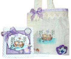 Lili of the Valley matching bag and card for couple's anniversary - 26 Aug 2012