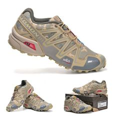 Salomon camo trail running shoes: