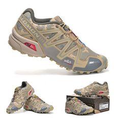Salomon camo trail running shoes: