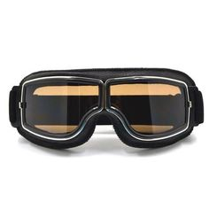 GT-011-BK-SM NEW Harley Style Motorcycle Goggles Pilot Motorbike Goggles  Leather 7c217ac700