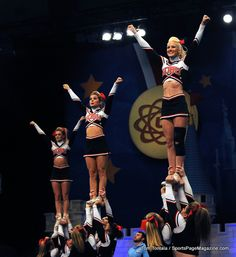 San Diego State University All Girl San Diego State University, College Cheerleading, Study Abroad, All Star, Aztec, Charlotte, Sporty, Bows, Football