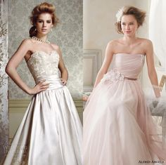 "http://www.weddinginspirasi.com/2013/12/26/alfred-angelo-the-it-colors-for-brides-and-bridesmaids-in-2014-sponsor-highlight/ We picked this 2 as our favorite from The ""It"" Colors for Brides and Bridesmaids in 2014 by Alfred Angelo. #weddingdresses #weddings #bridal #editorspicks #sposa #novia"
