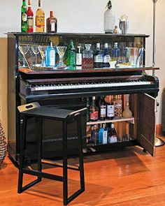 How to make a piano bar what kind of storage could I make?
