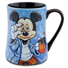 Disney Coffee Mug - Mornings Mickey Mouse,Mickey Mouse''Some Mornings are ROUGH!'' Coffee Mug. Our Mornings Mickey Mouse Mug will jumpstart your day with a laugh! ''Some Mornings are ROUGH!'' written across the back explains why Mickey looks so sleepy. Disney Coffee Mugs, Cute Coffee Mugs, Cool Mugs, I Love Coffee, Tea Mugs, Coffee Cups, Disney Parks, Disney Home, Walt Disney