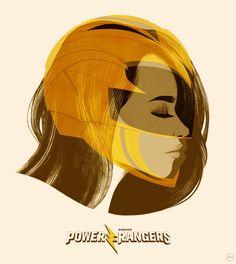 Yellow Art Print by jublin - X-Small Power Rangers Movie 2017, Saban's Power Rangers, Mighty Morphin Power Rangers, Ranger Verde, Power Rangers Pictures, Power Rengers, Girl Power, Cutest Animals On Earth, Rangers News