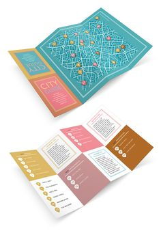 Graphic Design Tutorials & Tips to Inspire Your Creative Skills Design a Fold-Out City Guide in Adobe InDesignDesign a Fold-Out City Guide in Adobe InDesign Layout Design, Map Design, Travel Design, Book Design, Map Layout, Design City, Brochure Folds, Design Brochure, Flyer Design