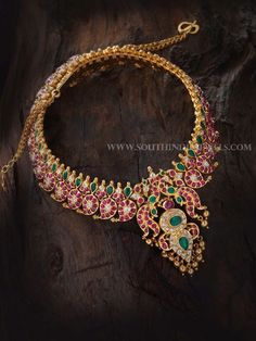 Gold Antique Mango Mala Designs From Aabushan Jewellery, Good Antique Necklace Designs From Aabushan Jewellery.