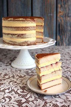 Vanilla, raspberry, passion fruit cake