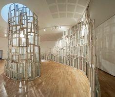 Wall of Windows - Chiharu Shiota