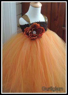 Fall flower girl tutu dress Flower girl dress tutu by Gurliglam, $93.00