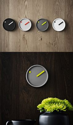"""The Pict Wall Clock is another minimalist design, meant to give viewers a """"picture"""" of the time rather than an exact moment."""