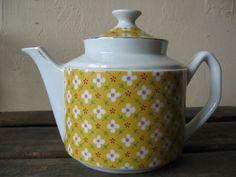 Spring Tea Sweet Ceramic Teapot Mad Hatter Garden Party Gilt Trim on Etsy, $24.00