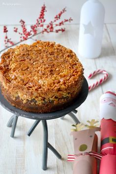 Tosca cake ~ Gâteau suédois aux amandes caramélisées. - Pourquoi je grossis Dessert Light, Sweet Corner, Macaroni And Cheese, Pork, Cooking Recipes, Yummy Food, Ethnic Recipes, Ainsi, Biscuits
