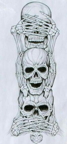 No Evil Art Print by Vernon Farris - No Evil Art Print by Vernon Farris . - No Evil Art Print by Vernon Farris – No Evil Art Print by Vernon Farris – - Neck Tatto, Tattoo Forearm, Forearm Sleeve, Calf Tattoo, Tattoo Set, Diy Tattoo, Totenkopf Tattoos, Evil Art, Neue Tattoos