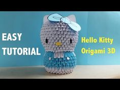 Origami 3D Hello Kitty - YouTube