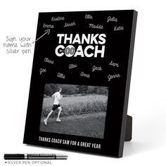 Track and Field Thanks Coach Picture Frame - Thanks Coach (Autograph) Black Wood Photo Frame Cross Country Pictures, Country Picture Frames, Senior Gifts, Gifts For Runners, Coach Gifts, Track And Field, Wood Photo, Black Wood, Coaches