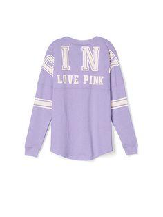 PINK Varsity Crew in Purple $44.95