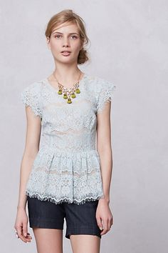 Mint Lace Top by Maeve