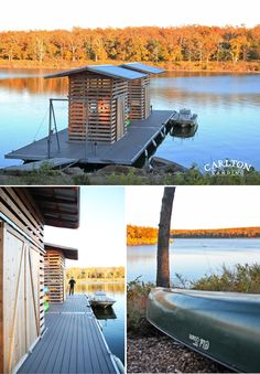 Carlton Landing dock before they added the boat slips. Lake Eufaula, Oklahoma