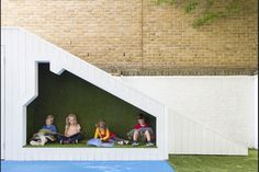 Nicholas Kirk Architects embeds 'niches, nooks and crannies' into Bermondsey nursery Architects Journal, Nook And Cranny, South London, Learning Spaces, Kid Spaces, Pre School, Polaroid Film, Nursery, Community